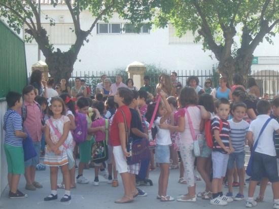 Niños en un colegio de la Comarca de Andújar.