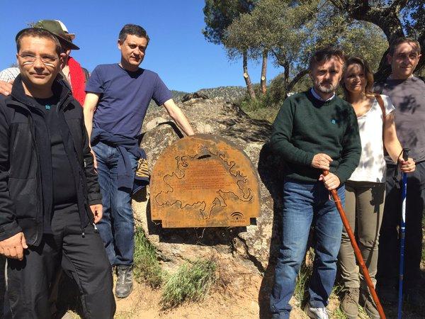 José Fiscal, Paco Huertas y Ana Cobo asistieron a la inauguración del Lugar Cervantino en la Sierra de Andújar.