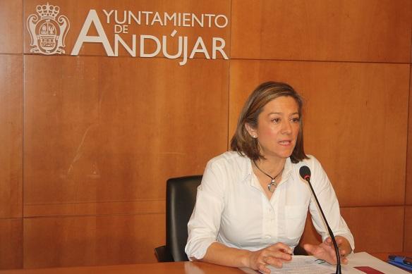 La Concejala de Urbanismo y Vivienda del Ayuntamiento de Andújar, Encarna Camacho.