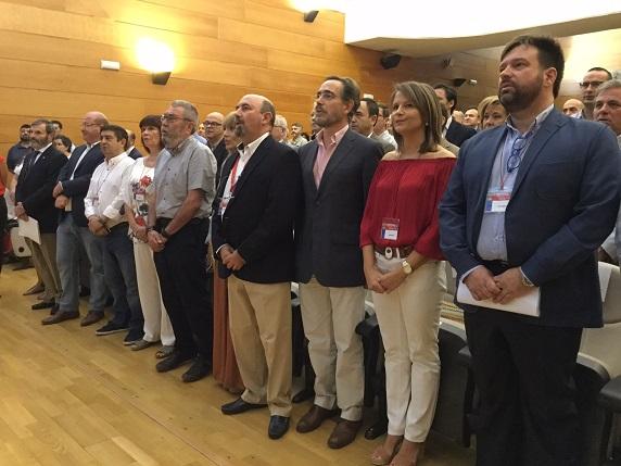 El consejero de Fomento y Vivienda, Felipe López, ha participado en la apertura de la décimo tercer Congreso de UGT-Jaén.