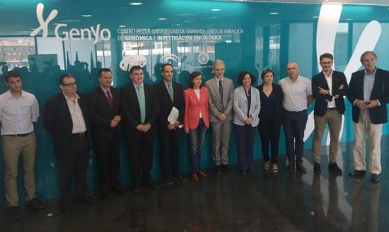Aquilino Alonso y Rosa Aguilar visitaron el Centro Genyo.
