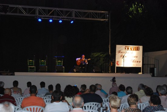 Un instante de este festival flamenco celebrado en Villanueva de la Reina.