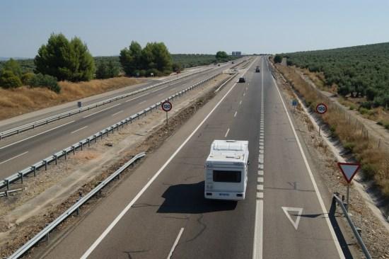 La Autovía de Andalucía a su paso por el términio municipal de Lopera.