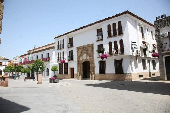 Plaza de Santa María, en Andújar. Foto: Ayuntamiento de Andújar.