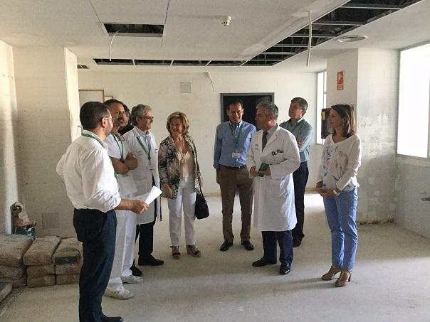 Visita a las obras realizadas en el Complejo Hospitalario de Jaén.