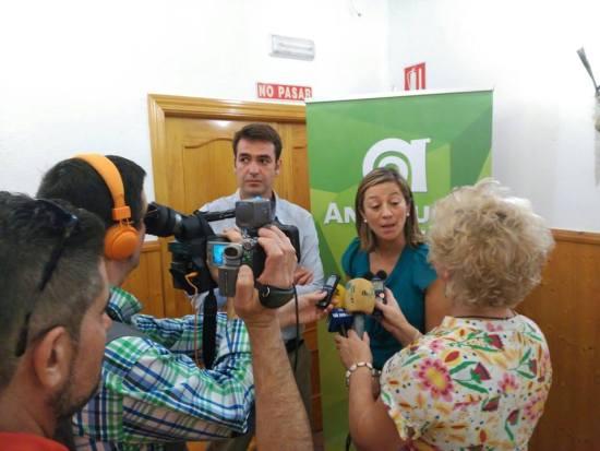 Acto público desarrollado en Andújar por esta formación. Foto: Andalucíaxsi.