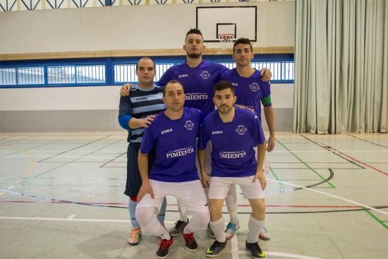 Equipo titular del Porcuna Futsal para este partido.