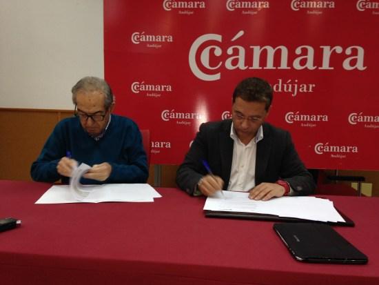 El alcalde de Andújar, Paco Huertas, y Eduardo Criado han presentado las líneas de actuación de este programa.