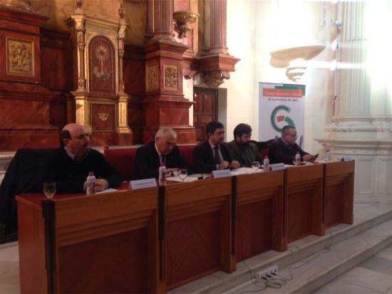 Manuel Salazar, Manuel Parras, Francisco Reyes, Manuel Alfonso Torres y José Moral han presentado la memoria socioeconómica del CES sobre el 2015.
