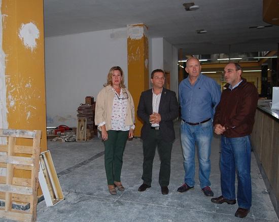 El alcalde de Andújar, Paco Huertas, junto a Luis Salas, Inmaculada Castro, y Francisco Javier Gil.