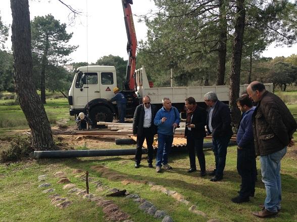 El alcalde de Andújar, Paco Huertas, y el diputado de Servicios Municipales, Bartolomé Cruz, han visitado estas obras.