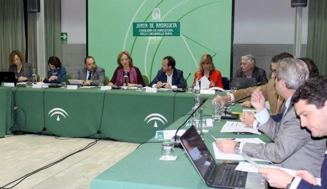 Carmen Ortiz, en un momento de la reunión.