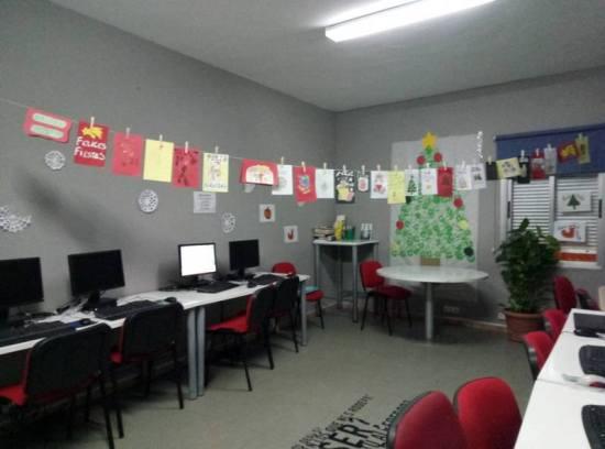 Exposición de tarjetas navideñas en el municipio de Cazalilla.