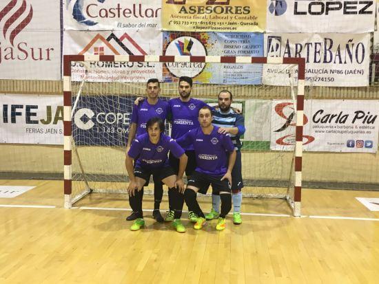 Equipo inicial del Porcuna Futsal para este partido.