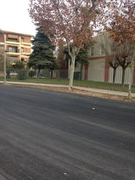 Mejora del firme en la calle que da acceso a la Estación de Autobuses de Andújar.