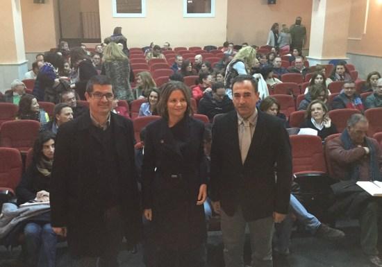 Manuel Jesús García,  Ana Cobo y Antonio de la Torre.