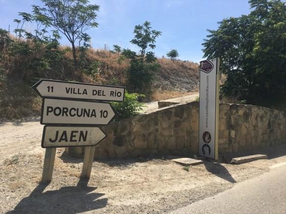 señales turísticas en Jaén