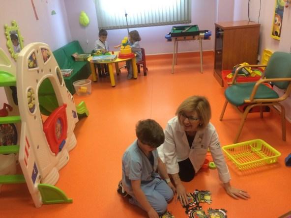 aula de enseñanza del hospital de Andújar