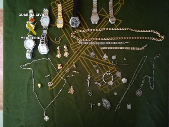 Joyas robadas en Torredonjimeno