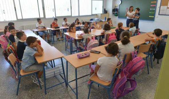 Escolares en un colegio
