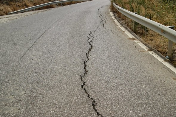 obras en carreteras de Jaén