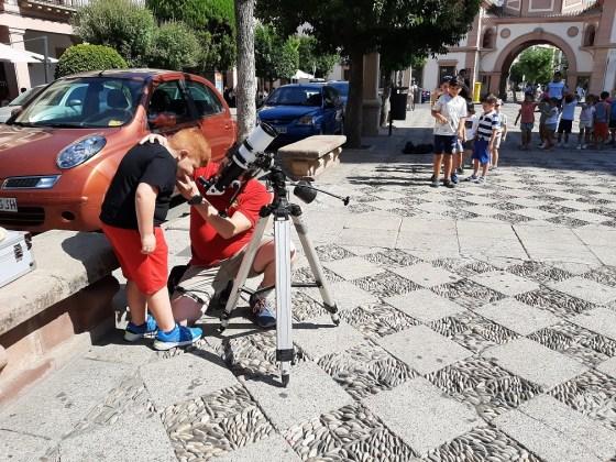 Observación astronómica en Andújar