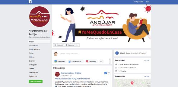 Facebook del Ayuntamiento de Andújar