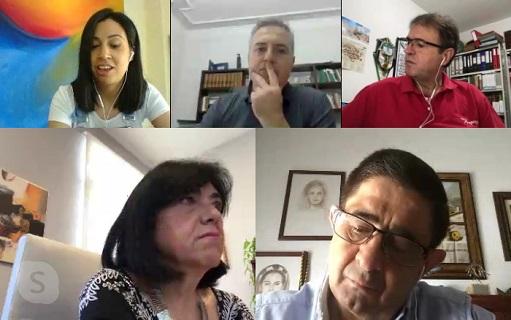Reyes concluye su ronda de reuniones con alcaldes sobre la situación de cada municipio en relación al Covid-19.