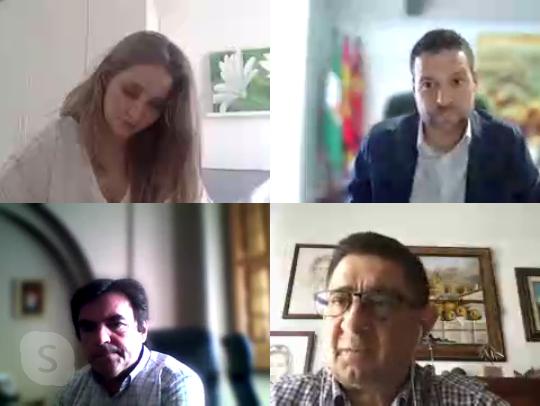 Reyes con alcaldes de Porcuna y Marmolejo