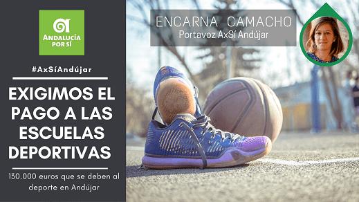 «Andalucía por Sí» exige al Ayuntamiento de Andújar el pago inmediato a las Escuelas Deportivas correspondiente al 2019 que asciende a 130.000 euros.