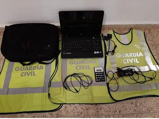 La Guardia Civil ha detenido a dos personas como presuntas autoras de un delito de Robo.