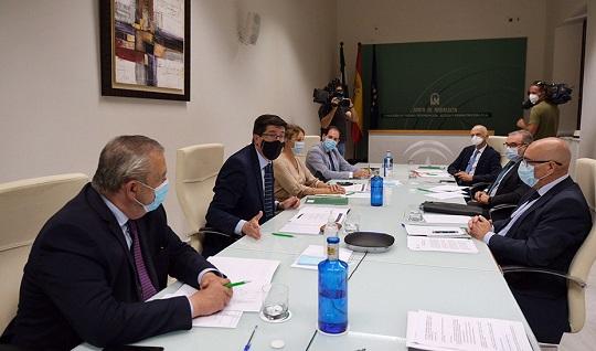 Juan Marín confirma la puesta en marcha de cuatro nuevos juzgados en Andalucía por el Covid-19.