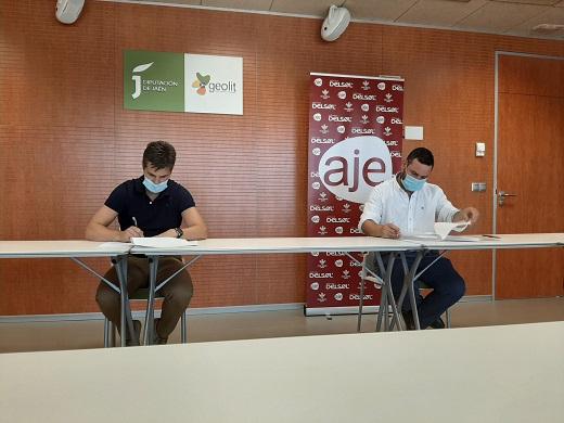 Diputación y AJE Jaén fomentarán la cooperación empresarial entre jóvenes y empresarios de la provincia.