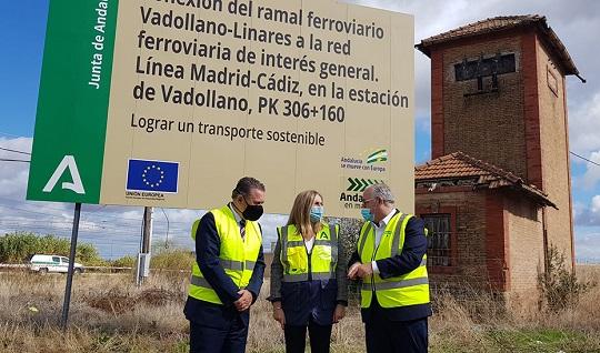 Arrancan las obras para la conexión ferroviaria del ramal Vadollano-Linares con la red estatal.
