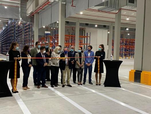 El presidente de la Diputación participa en la inauguración del centro logístico del Grupo Bonilla en Martos.