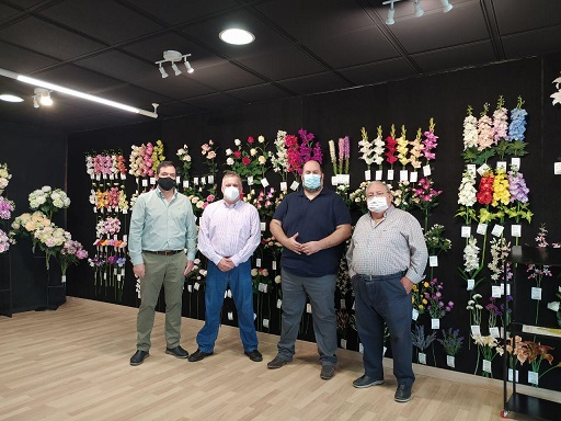 El concejal de Comercio, Juan Francisco Cazalilla, comienza una ronda de visitas por diversas empresas de Andújar.