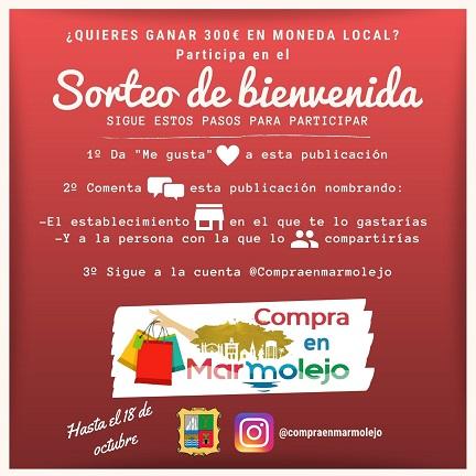 El Ayuntamiento de Marmolejo pone en marcha una novedosa campaña de apoyo al comercio local.