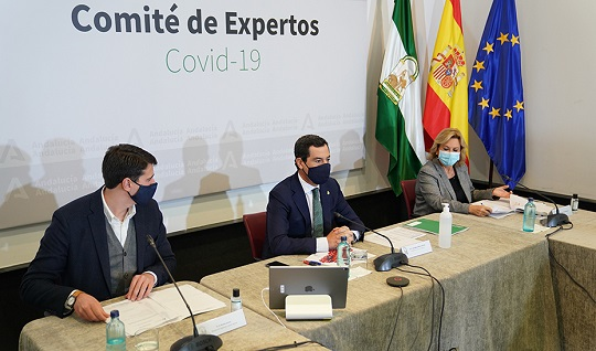 Moreno anuncia la prórroga de las medidas con algunas excepciones para Granada y el sector de la hostelería.
