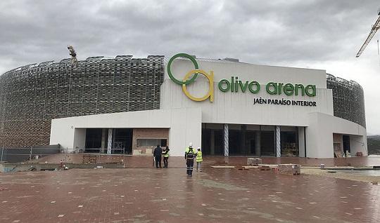El 'Olivo Arena' de Jaén, la obra deportiva pública de mayor envergadura de Andalucía.