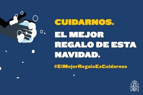#ElMejorRegaloEsCuidarnos, lema de la campaña del Ministerio de Sanidad que recordará las medidas de prevención frente a la COVID-19 en Navidad.