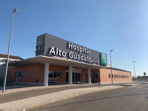 """Alcaldes y alcaldesas de la Campiña piden soluciones al consejero Aguirre por """"el deterioro de la gestión"""" en el Hospital Alto Guadalquivir de Andújar."""