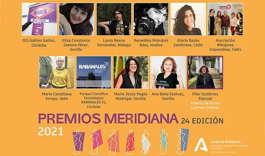 El Instituto Andaluz de la Mujer (IAM) hace público el fallo del jurado de la 24ª edición de los Premios Meridiana.