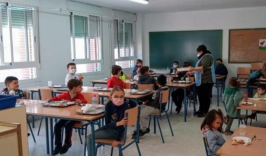 Los comedores escolares de la provincia de Jaén vuelven a funcionar desde hoy.