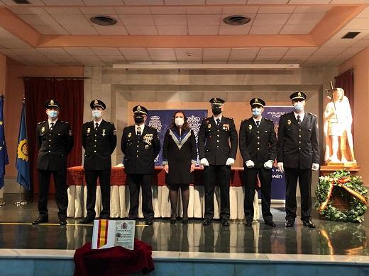 La subdelegada preside el acto de jura de la XXXII promoción de Inspectores de Policía Nacional.
