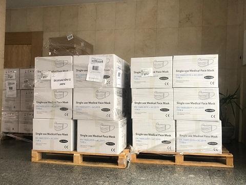 La Subdelegación del Gobierno en Jaén reparte más de 1 millón de mascarillas desde el inicio de la pandemia en la provincia.