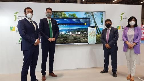 Diputación renueva la promoción digital de la provincia con una nueva plataforma de Jaén, Paraíso Interior.