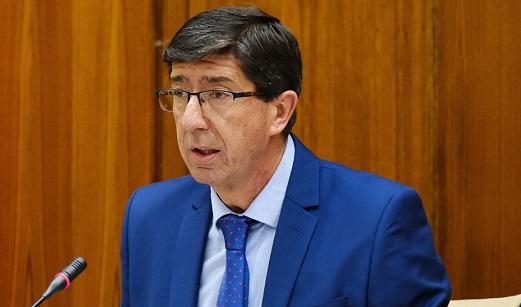 Juan Marín anuncia la apertura del plazo para solicitar las ayudas a hoteles y apartamentos.