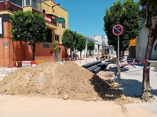 """Las obras en calle Puerta de Córdoba avanzan a """"buen ritmo"""" y cumplirán con los plazos de ejecución previstos."""