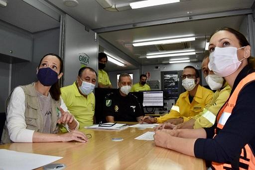 La Junta prueba la respuesta en emergencias en un simulacro de incendio forestal en Andújar.