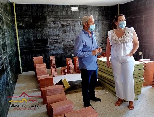 Avanzan las obras de las nuevas Salas de Ensayo del Ayuntamiento de Andújar.